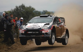 Picture Ford, Auto, Black, Dust, Sport, Machine, Speed, People, WRC, Rally, Fiesta, Fiesta, In The Air