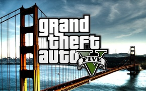 Picture water, bridge, the game, GTA V