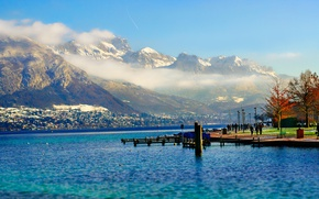 Picture France, mountains, Annecy, Haute-Savoie, Lake Annecy, Auvergne-Rhone-Alpes, Mont Veyrier, Le Semnoz, The Spin-Coating