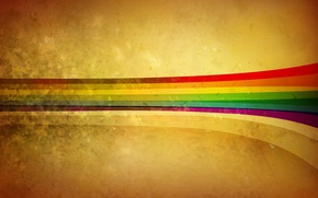 Picture abstraction, paint, rainbow, colors, rainbow, 1920x1080, abstraction