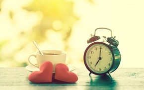 Picture Heart, Watch, Cup
