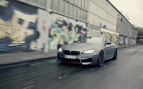 Picture road, car, machine, graffiti, BMW, speed, Cabrio