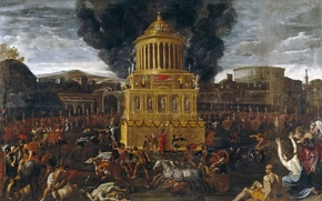 Picture picture, history, genre, mythology, Domenichino, The Funeral Of The Roman Emperor