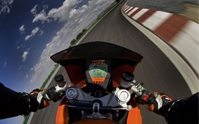 Picture Road, Horizon, Speed, The wheel, Racing