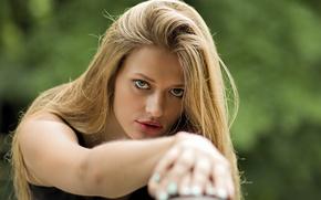 Picture look, model, hair, Blondie, Marta Marczewska