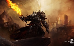 Picture fire, monster, sword, guild wars 2