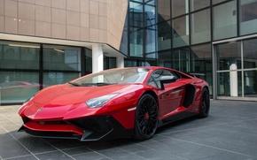 Picture Lamborghini, Red, Aventador