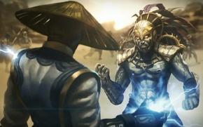 Picture Mortal Kombat, raiden, warrior, Raiden, Mortal Kombat X, Kotal Kahn, MK X