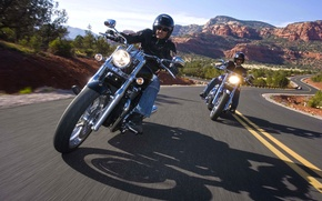 Picture road, motorcycle, Harley-Davidson
