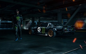 Picture Mustang, Ford, 1965, RTR, Side, Ken Block, Gymkhana, Racer, Sparks, Hoonicorn, SEVEN, 845 hp