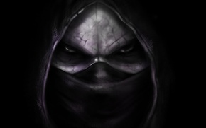 Picture Black, Sake, Assassins, Kombat, Mortal, Portrait, Noob Saibot