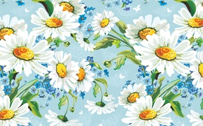 Picture flowers, figure, chamomile, art