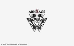 Picture white, logo, symbol, the word, Arhanikum, Rorschach Test, arhxaos
