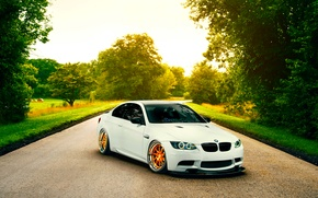 Picture Low, Stancenation, E92, Orange, White, Road, Wheels, BMW