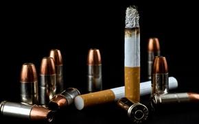 Picture background, cigarette, cartridges
