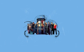 Picture background, art, actors, Doctor Who, Doctor Who, The TARDIS, TARDIS, The Adventures Of Sarah Jane, …