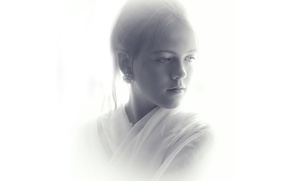 Picture white, background, portrait