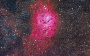 Picture cloud, giant, in the constellation, Sagittarius, The Lagoon Nebula, interstellar, and region H II