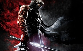 Picture blood, sword, infection, pain, ninja, Ninja Gaiden, Katana, Ninja, sinobi, Ryu Hayabusa, Ninja Gaiden 3, …