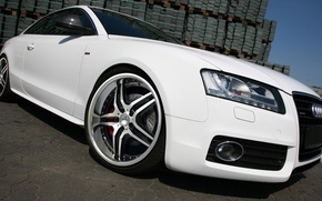Wallpaper white, Audi A5, wheel