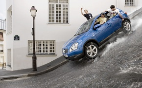 Wallpaper skate, street, Nissan Qashqai, Romain Laurent, fantasy