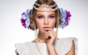 Picture look, decoration, portrait, makeup, Nastya, Anastasia Shcheglova, Spring Flower, Andrey Zhukov