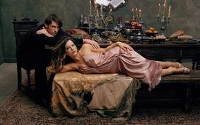 Picture actress, actor, kate beckinsale, Kate beckinsale, male, celebrity, woman, Hugh Jackman, hugh jackman