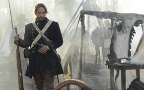 Picture cinema, Fox, battlefield, sword, gun, forest, trees, smoke, weapon, war, fight, movie, captain, horse, film, ...
