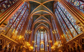 Picture hdr, Church, Cathedral, stained glass, religion