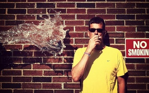 Picture water, the situation, guy, no smoking