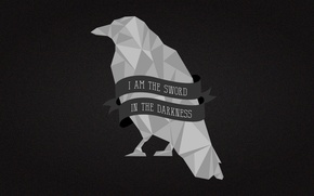 Picture crow, A Song of Ice and Fire, Game of Thrones, Nights Watch, I Am the …