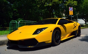 Picture lamborghini, yellow, murcielago, lp670-4