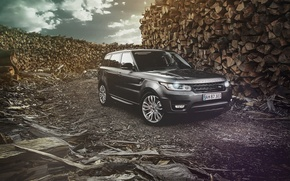 Picture Land Rover, Range Rover, Car, Nature, Wood, Front, 4x4, Sport, Diesel, Luxury, Forrest, English