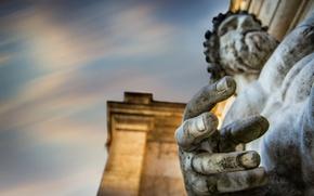 Picture Rome, Tiberinus's hand, Palazzo Senatorio