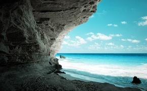 Wallpaper sea, rocks, beach