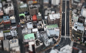 Picture Tokyo, Japan, small, miniature, people, constructions, buildings, structure, architecture, houses