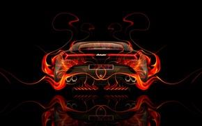 Picture Auto, Design, Black, Lamborghini, Fire, Machine, Orange, Style, Wallpaper, Background, Orange, Flame, Car, Fire, Art, …