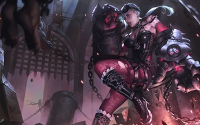 Picture girl, weapons, art, league of legends