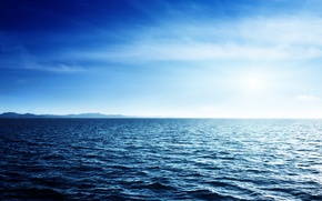 Picture sea, the sky, water, the ocean, horizon