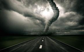 Wallpaper road, 157, tornado