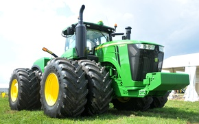 Picture wallpaper, tractor, agriculture, farming, John Deere, 9620r
