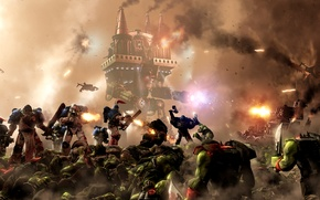 Picture war, 000, space marine, space Marines, Warhammer 40, Warlord-class Titan, orks