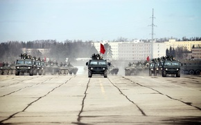 Picture Tiger, May 9, GAZ-233014, Alabino, rehearsal, victory parade
