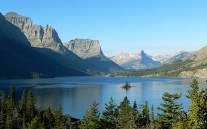 Picture Park, Lake, USA, National, Holy Mary, St Mary Lake