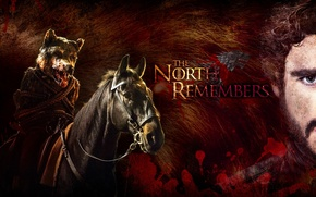 Picture red, soldiers, wolf, death, A Song of Ice and Fire, Game of Thrones, horse, head, …