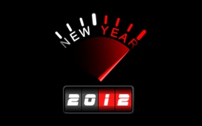 Wallpaper speedometer, 2012, New year