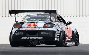 Picture Mazda, Drift, Tuning, Team, RX-8, Competition, Rims, Widebody, Sportcar, Spoiler, Red-Bull Racing
