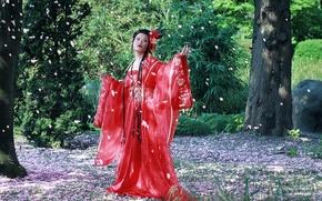 Picture East, kimono, Cherry Blossom