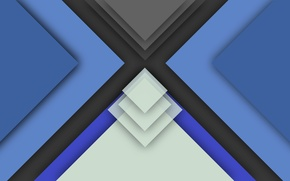 Picture white, blue, black, geometry, color, material