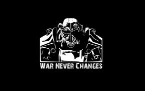 Picture white, fallout 3, black, armor, war, warrior